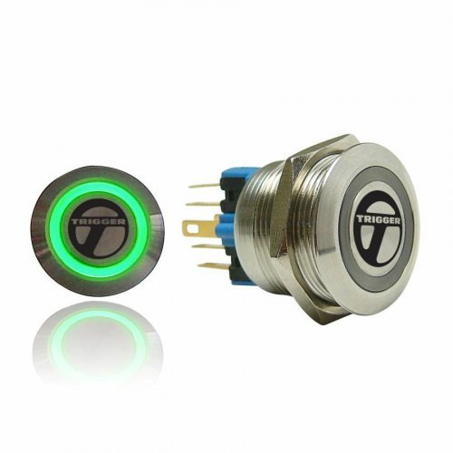 Trigger Billet Button :: Green Illumination instructions, warranty, rebate
